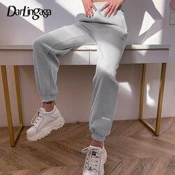 Darlingaga Casual Loose Workout Sweatpants Women High Waist Pants Letter Printed Elastic Joggers Sporsty Harajuku Pants Trousers