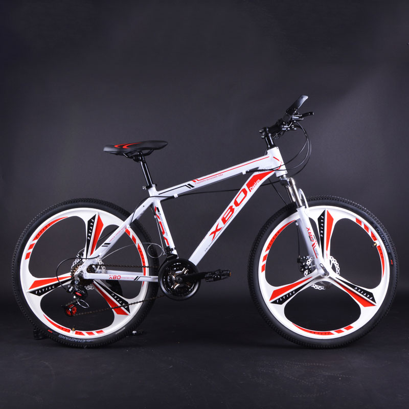 Aluminum Alloy Mountain Bike 26 Inch Speed Shift 3 Knife One Wheel Double Disc Brake Shock Absorber Men And Women Bicycle