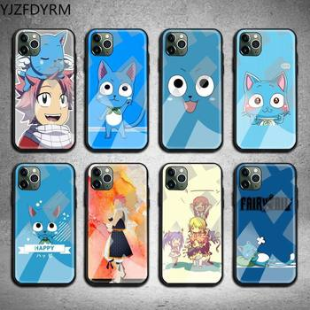 Happy Felice Fairy Tail Phone Case Tempered Glass For iPhone 11 Pro XR XS MAX 8 X 7 6S 6 Plus SE 2020 case image