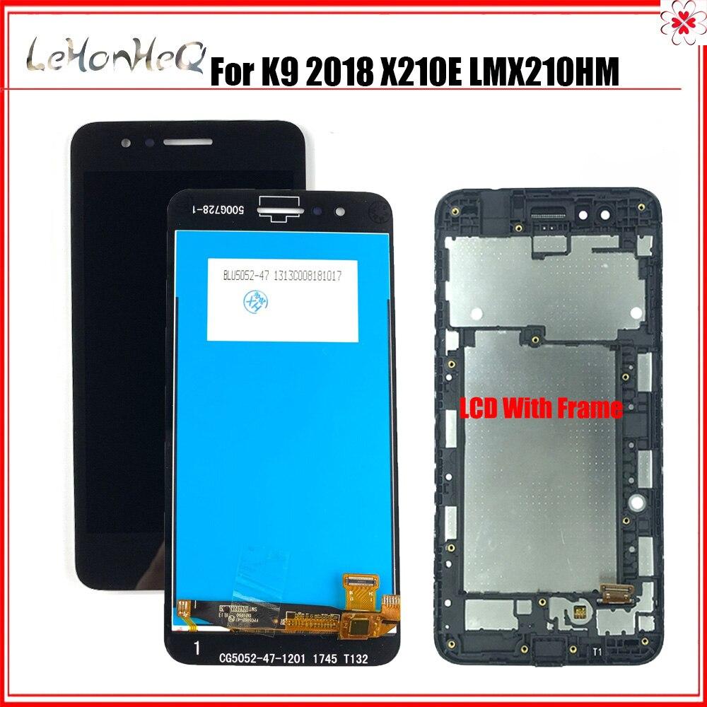K9 2018 lcd para lg k9 2018 x210e lmx210hm display lcd de tela toque digitador assembléia substituição x210e lcd com quadro