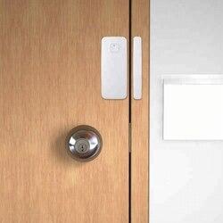 Inteligentny czujnik do okien drzwi kompatybilny z Alexa Google Home i IFTTT magnetyczny czujnik bezpieczeństwa bezprzewodowy Alarm bezpieczeństwa WiFI przez APP w Czujnik i detektor od Bezpieczeństwo i ochrona na