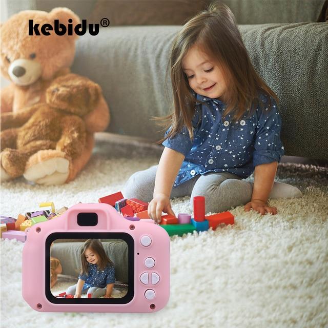 Kebidu Mini sevimli çocuk dijital kamera oyuncak kamera 2.0 inç resim 1080P Video çocuk oyuncakları Video kaydedici kamera