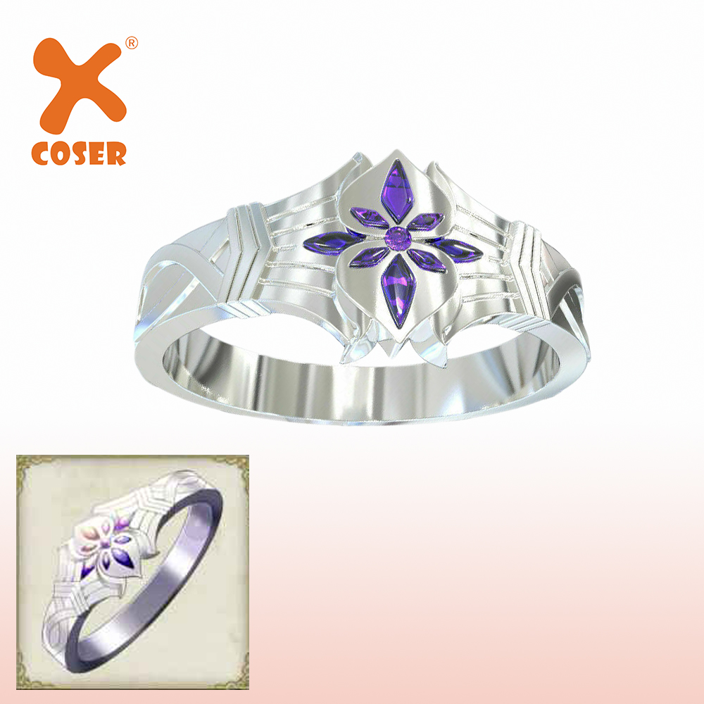 XCOSER Delicate Cosplay Ring ThreeHouses Protagonist Ring Cosplay Wedding Ring Costume Props Beautiful Accessories For Friend