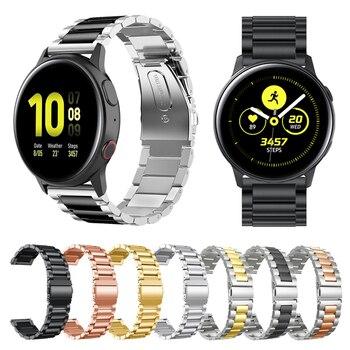 Metal Wrist Strap For Samsung Galaxy Watch Active 2 44mm 40mm Band Bracelet for Galaxy Watch 46mm 42mm Gear Sport/S3 Watchband