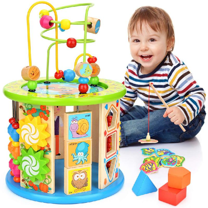 Activity Cube Puzzle Toy, 10 In A Maze Multi-purpose Toy Education Color Classification Puzzle Children's Gift Toys