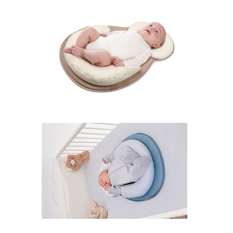 Baby Pillow Stereotypes Infant Crib Toddler Safety Anti-rollover Mattress Travel Folding Sleep Pillow Sleeping Positioning Pad