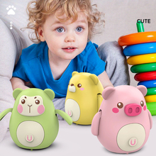 Electric Cute Swing Magnetic Interaction Animal Accompanying Children Color Cognitive for Kids Toys Car Diecast 2 to 4 Years Old