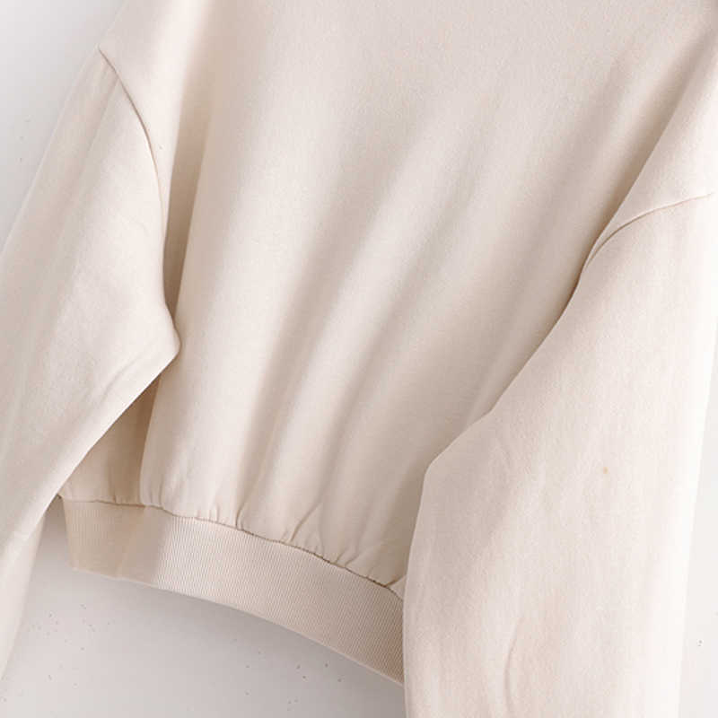 Zoepo O Leher Solid Kaus Wanita Fashion Bordir Kemeja Peluh Pendek Wanita Elegan Cascading Kaus Wanita Wanita JQ