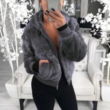 Outerwear & Jackets Women Plush Jackets Winter Hooded Coats