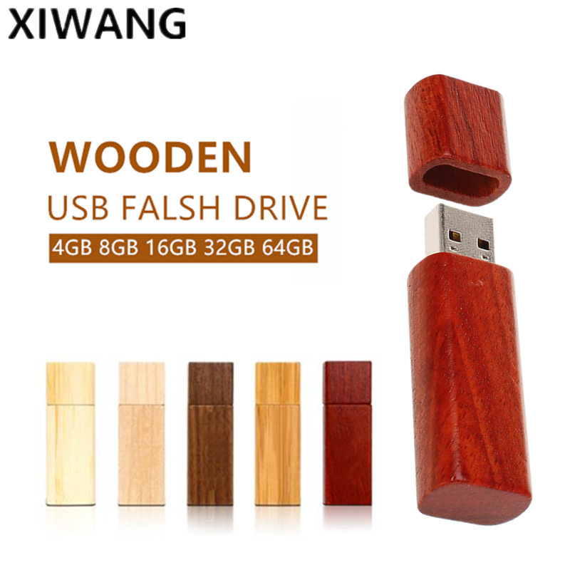 XIWANG Customizable company logo Oval wooden USB flash drive Memory stick 4GB 8GB 16GB 32GB 64GB Actual capacity Pendrive drive