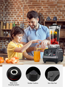 Image 5 - 3HP 2200W 헤비 듀티 상업용 자동 타이머 블렌더 믹서 과즙 기 과일 푸드 프로세서 아이스 스무디 BPA Free 2L Jar