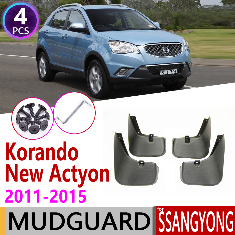 For SsangYong Korando New Actyon C200 2011~2015 Car Mudflaps Fender Mud Guard Splash Flaps Mudguards Accessories 2012 2013 2014