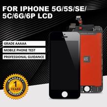 학년 AAA + + + 아이폰 5 5S SE 5C LCD 터치 스크린 디지타이저 구성 요소에 적합, 아이폰 6 6 플러스 + 선물에 적합