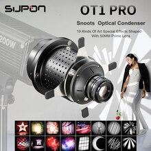 Ot1 pro focalize snoots cónicos foto condensador óptico arte efeitos especiais em forma de feixe luz cilindro para bowens montagem