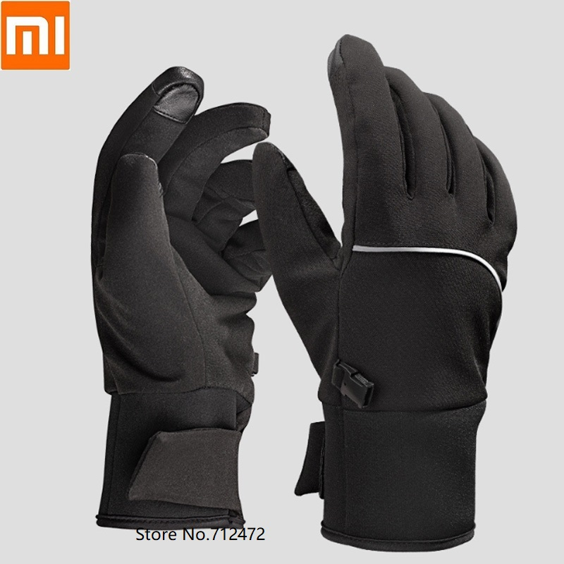 Xiaomi QIMIAN Touch Screen Gloves Plus Velvet Warm Waterproof Night Reflective Strip Gloves Men Women Winter Driving Riding