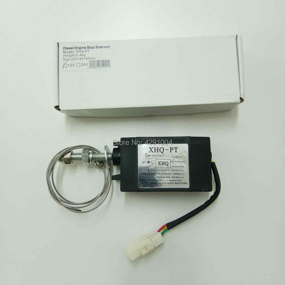 XHQ-PT 12V 24V Power Off Pull Type Dieselmotor Accessoire Stopmagneet
