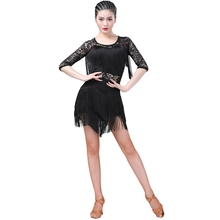 New Latin Dance Dress Women Girls Lady Sexy Practice Clothes Performance Clothing Tassel