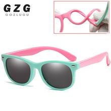 Flexible Polarized Kids Sunglasses Child Black Sun Glasses for Baby Girls