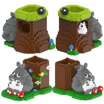 Micro Diamond Puzzle Creative DIY Spelling Building Blocks Totoro Handmade Pen Holder Ornaments Building Blocks 3006 3007