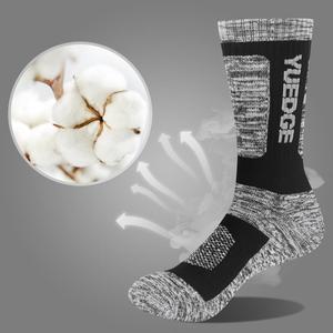 Image 3 - YUEDGE мужские носки дышащие комфортные хлопковые подушки, спортивные походные носки 5 пар 38 45 EU