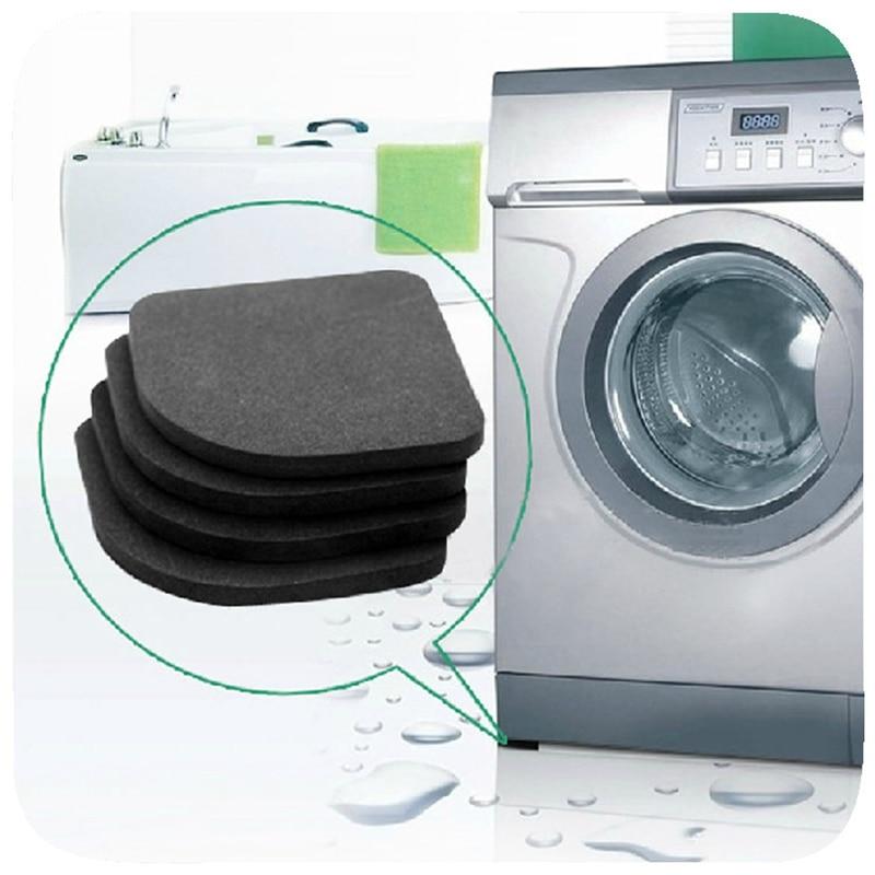 4pcs Washing Machine Anti Vibration Pad Shock Proof Anti-Slip Foot Feet Mat Refrigerator Floor Furniture Protectors