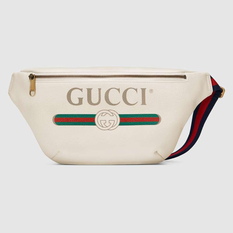 Brand Gucci Print Leather Belt Bag Men Waist Bags Crossbody Bag Leisure Chest Phone Pouch Unisex ‎493869 0GCCT 8822