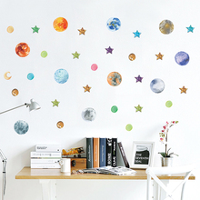 Galaxy Space Solar System Decorative Wall Stickers Bedroom Home Accessories Decor Stars Moon DIY Mural Decal PVC Art Poster