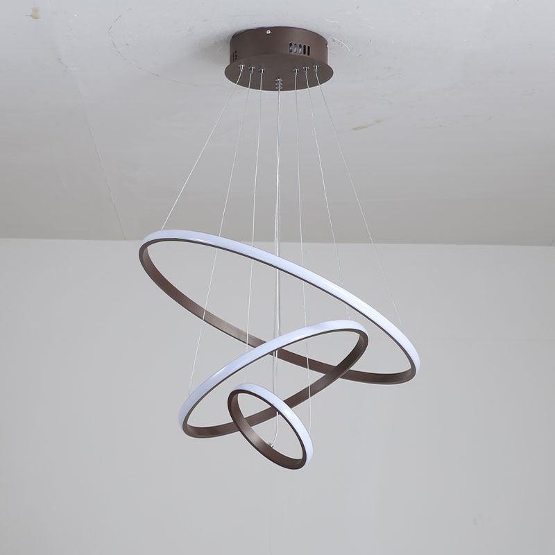 Outer Shine Modern LED Chandelier White&Black&Coffee Lamps Led Ceiling Chandeliers Lighting For Living room Kitchen Dining room