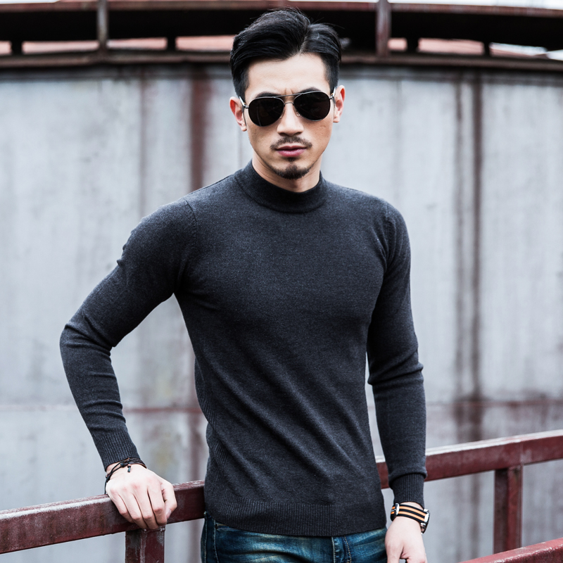 Solid Color Streetwear Personalized Men Sweater Regular Long Sleeve Customize Advertising A61 Popular