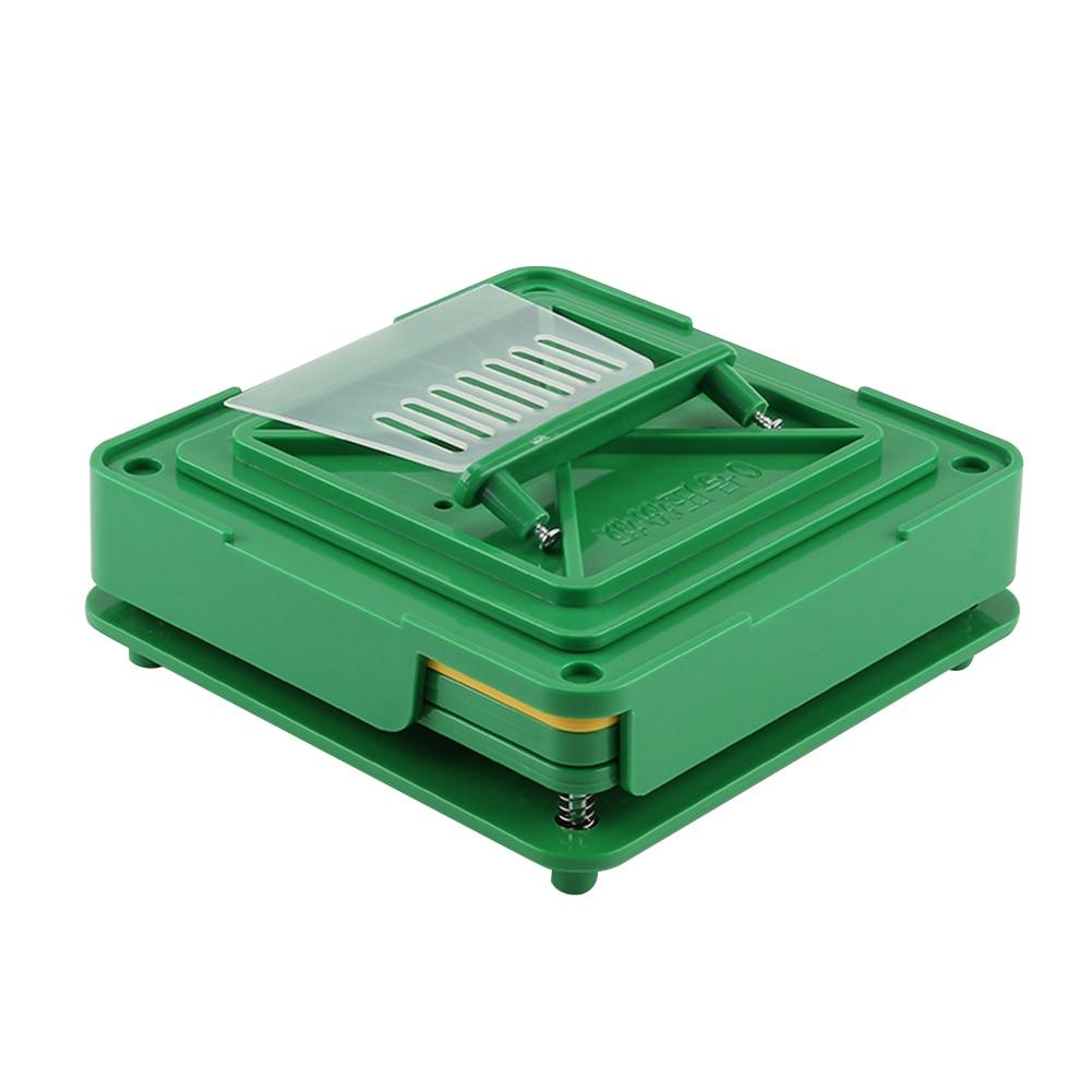 100 trous encapsulateur Capsule Machine de remplissage bricolage distributeurs manuel poudre Flate outil rapide conseil alimentaire qualité pharmaceutique ABS