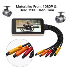 Blueskysea MT23 Waterproof WiFi Camera Motorcycle  Touch Screen HD 1080P Moto Dash Cam GPS Dual DVR Night Vision
