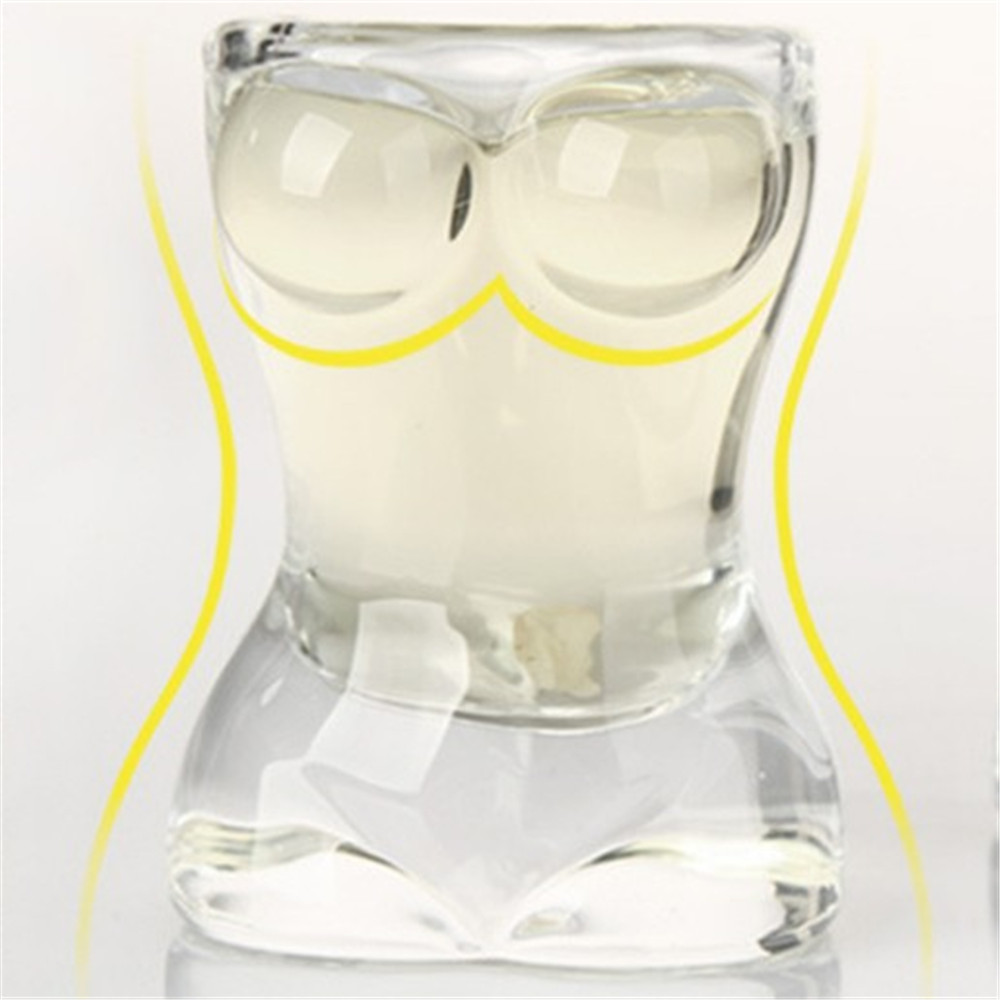 KANNERT 22 ml New Sexy Lady Torso Durable Double Wall Whiskey Glasses Wine Shot Glass Chest Beer Cup  Bar Nightclub Wine Glass