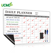 School Magnetic Whiteboard Sticker Dry Erase Calendar Daily Weekly Monthly Planner Writing Board Family Office Message