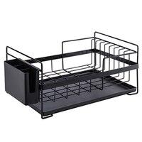 New Kitchen Storage Organizer Dish Drainer Drying Rack Kitchen Sink Holder Tray For Plates Bowl Cup Tableware Shelf Basket Black|Racks & Holders| |  -