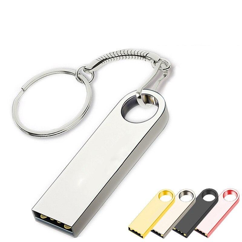 Metal Waterproof Pen Drive 128 GB USB Flash Drive 1TB 512GB 256GB 128GB High Speed USB 2.0 Flash Disk Pen Drive Memory Stick