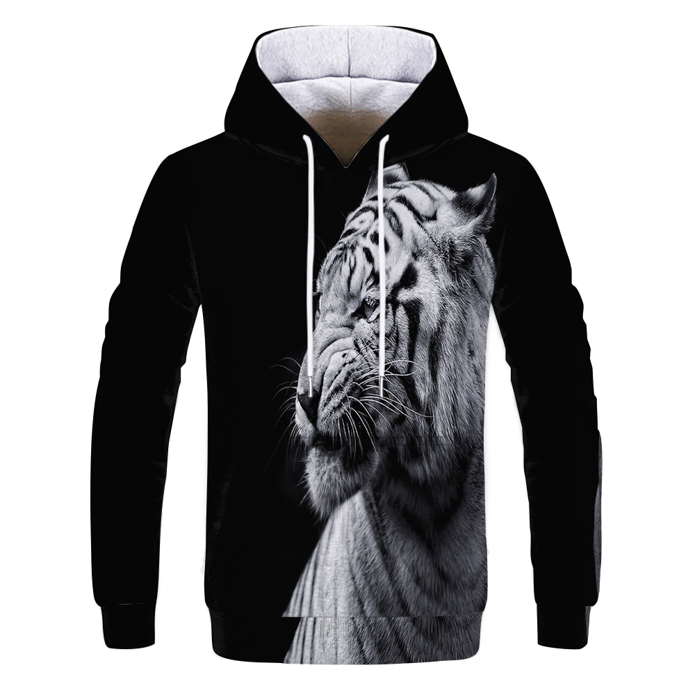 Men's New Animal-print Hoodie 3d Lion Head Hoodie For Fall, 2019 Brand Hoodie Fashion Tracksuit Street Coat Oversized Hoodie