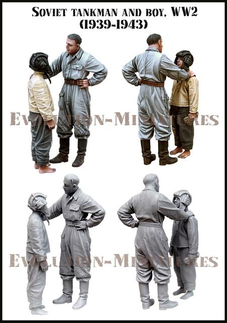 [tusk model]1/35 Scale Unassembled Resin figures resin model Kits E186 1