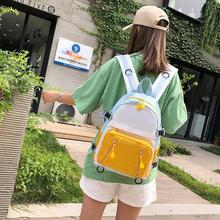 Unisex Simple Fashion Cute Zipper Junior High School Students Large Capacity Bag Backpack
