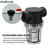Car Washing Filter 1/2 inch Inline Mesh Strainer Water Pump Filter Irrigation High Flow Pipeline Filter Gardening Inlet Water