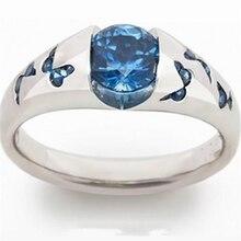 Классический Бабочка циркон кольцо на День святого Валентина