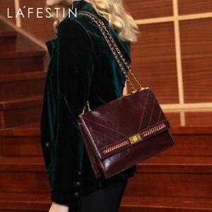 LAFESTIN 2019 Новая модная женская сумка с цепочкой, простая вместительная сумка через плечо