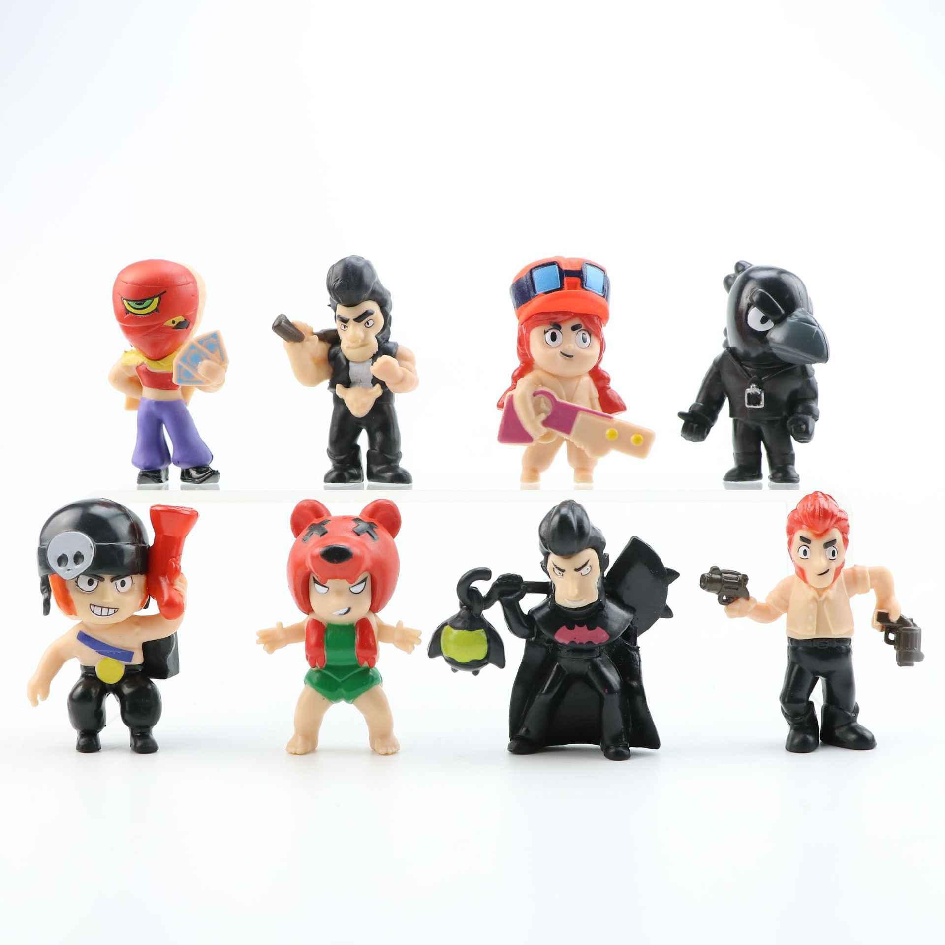 8 шт./компл., финская игрушка с рисунком звезд, креативный герой, кукла, подарок для детей, украшение торта, детский подарок на день