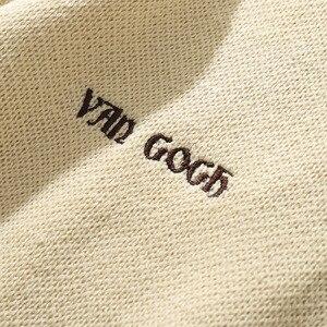 Image 4 - 2020 mężczyzn Hip Hop sweter sweter Streetwear obraz Van gogha haft sweter z dzianiny Retro Vintage jesień swetry bawełniane