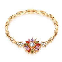 Из 14 каратного золота с красочными драгоценный камень браслет