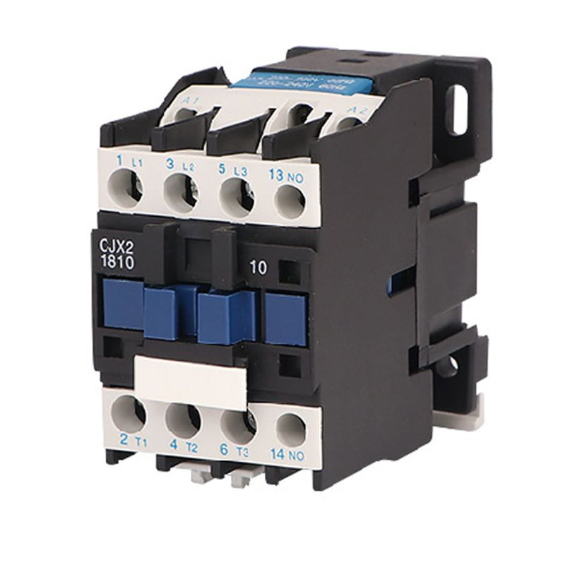 CJX2-1810 AC Contactor 220V 50Hz Coil 18A Copper Coils Three Phase 1NO Rail Mount Industrial Electrical Contactor