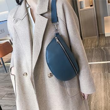 New Waist Bag Fashion Fanny Pack for Women PU Leather Waist Pack Brand Designer Shoulder Bag Casual Female Chest Bag