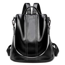 Women Backpack Functional 100% Soft Genuine Leather Backpack For Women Fashion Urban Girls Anti Theft Backpack