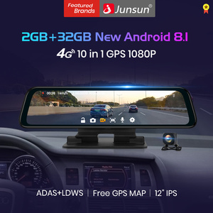Junsun Android 8.1 2GB+32GB ADAS 10 in 1 DashCam Car DVR Mirror Camera 4G WIFI GPS Bluetooth Full HD 1080P Video Recorder(China)