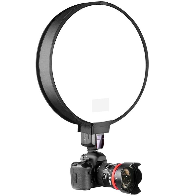 30cm External Set Top Flash Soft Cloth Cover SLR Camera Photography Round Softbox Folding Softbox New