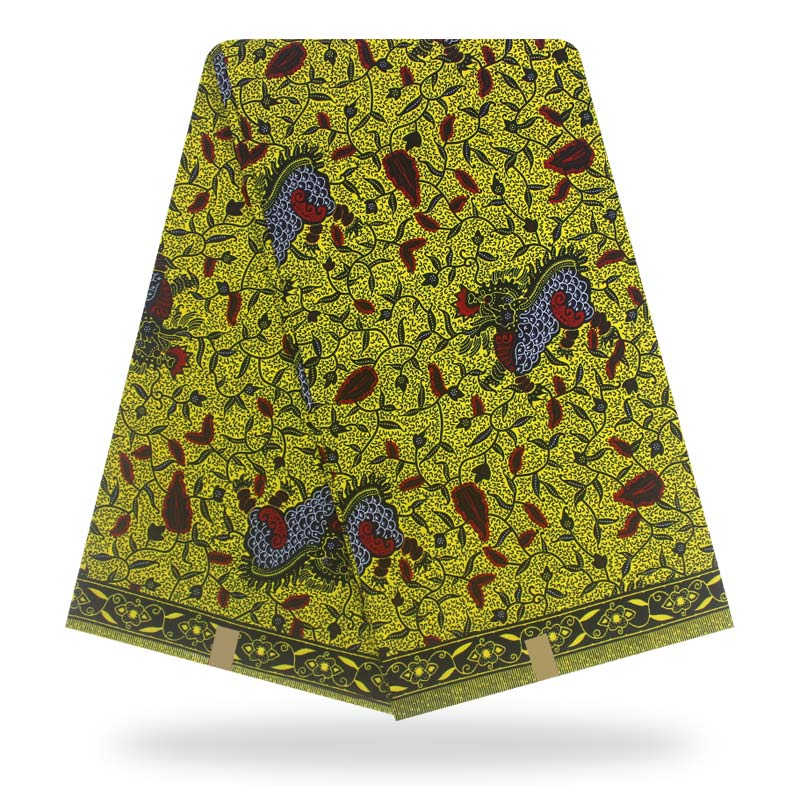 African Wax Prints Fabric Ankara Polyester Wax Print Fabric Real Wax High Quality 6 Yards African Fabric For Party Dres